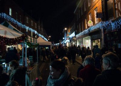 Christmas lights Godalming high street